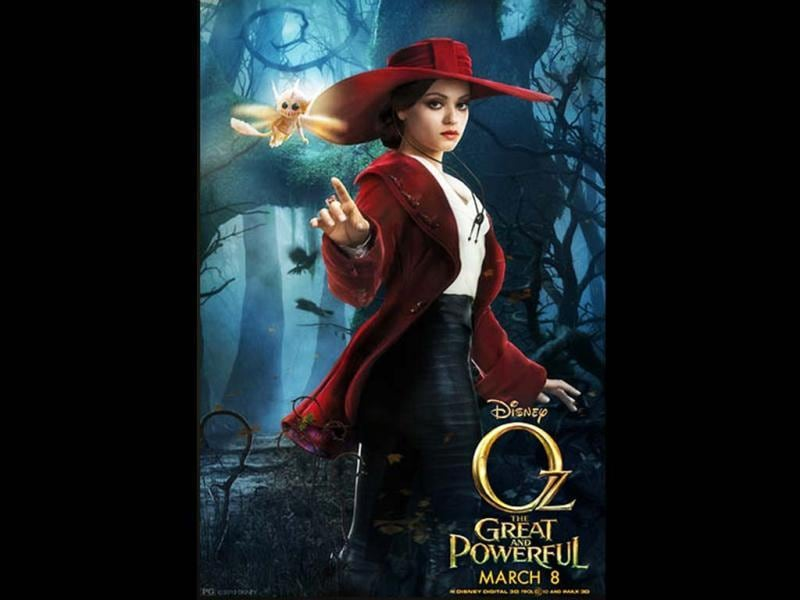 Mila Kunis plays Theodora or The Wicked Witch of the West in Oz: The Great and Powerful Wizard.