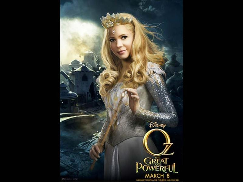 Blonde beauty Michelle Williams will be Glinda the good witch who rules a peaceful kingdom in the Oz: The Great and Powerful Wizard.