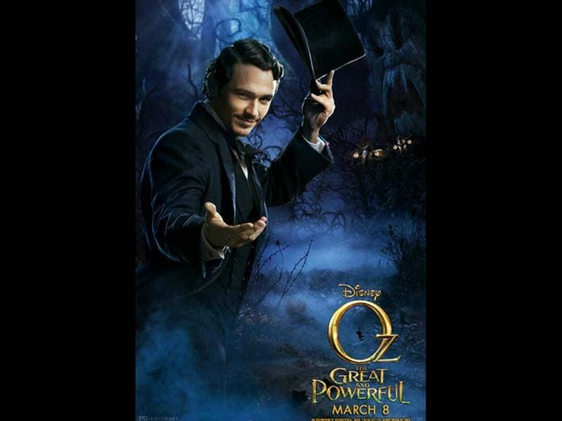 James Franco will be playing Oscar Diggs aka Wizard Oz in the film.