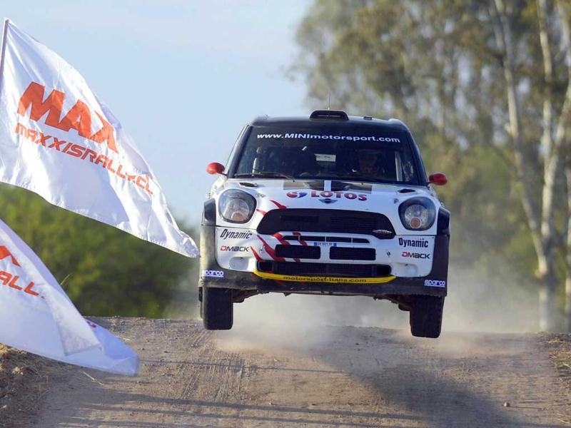Polish driver Michal Kosciuszko of Lotos Team WRC during stage two on the first day of the FIA World Rally Championships at the Speedway of Leon, Guanajuato State, Mexico. AFP photo