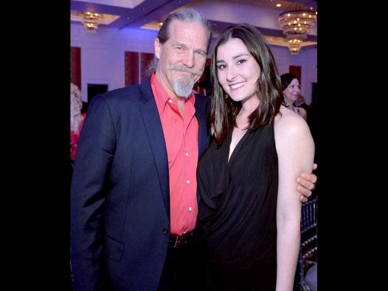 Jeff Bridges and Jenny Gill attend TJ Martell Honors Gala at Hutton Hotel in Nashville, Tennessee. AFP photo