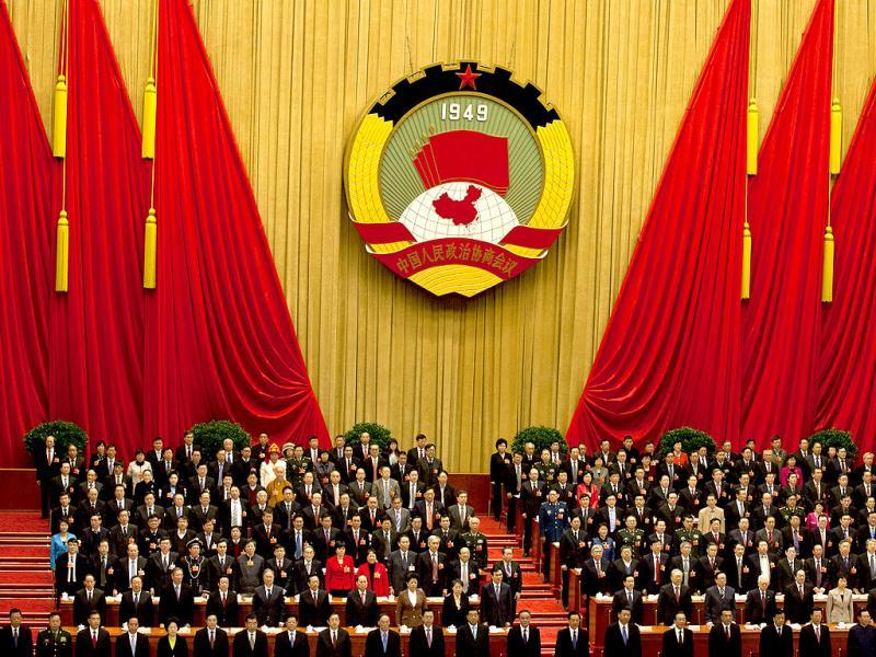 Top Chinese leaders and delegates of the Chinese People's Political Consultative Conference during the closing session of the annual CPPCC held inside Beijing's Great Hall of the People in China. AP Photo