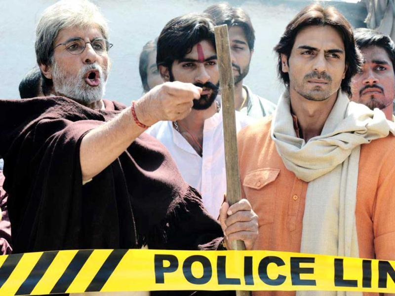 Amitabh Bachchan, Arjun Rampal in a still from Satyagraha- Democracy Under Fire. (Photo Courtesy: Facebook)