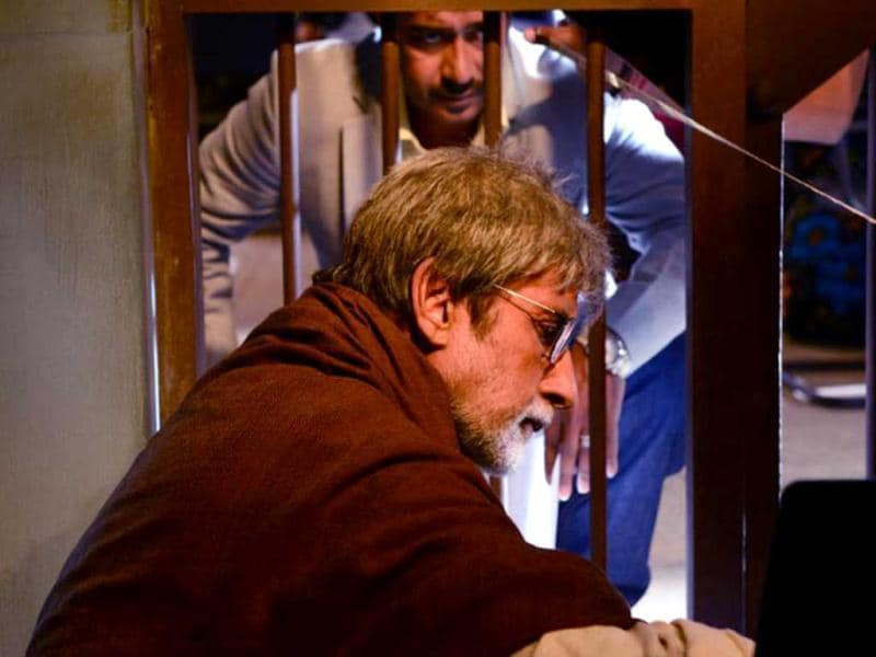 Ajay Devgn and Amitabh Bachchan in a still from Satyagraha- Democracy under Fire. Ajay Devgn's character is said to be loosely based on Arvind Kejriwal, the man who supported Anna Hazare in his anti-corruption movements but later parted ways due to a difference in opinions. (Photo Courtesy: Facebook)
