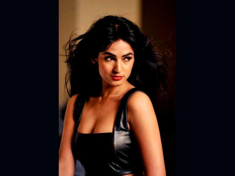 Dusky beauty Sonal Chauhan flaunts a little cleavage as she poses for the shoot. (AFP Photo)