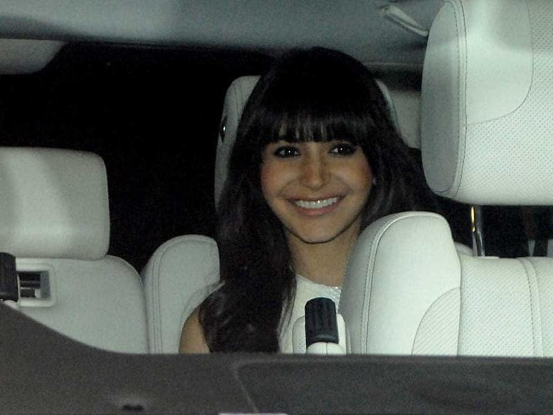 Anushka Sharma makes an entry sporting her new hairstyle. (HT Photo by Prodip Guha)