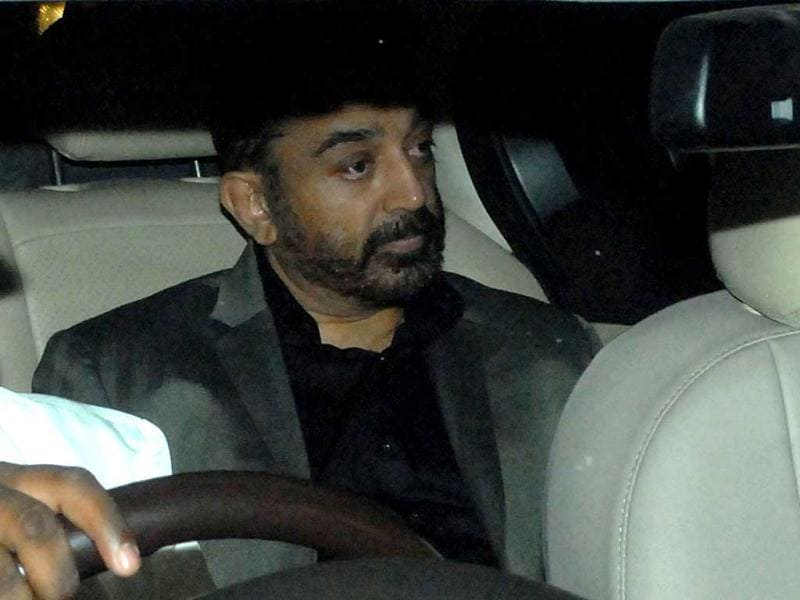 Southern superstar Kamal Haasan was also seen at Ambani's party for Spielberg. (HT Photo by Prodip Guha)