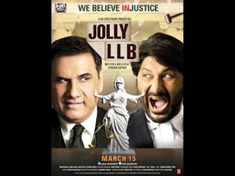 Arshad Warsi and Boman Irani in a poster of Jolly LLB.