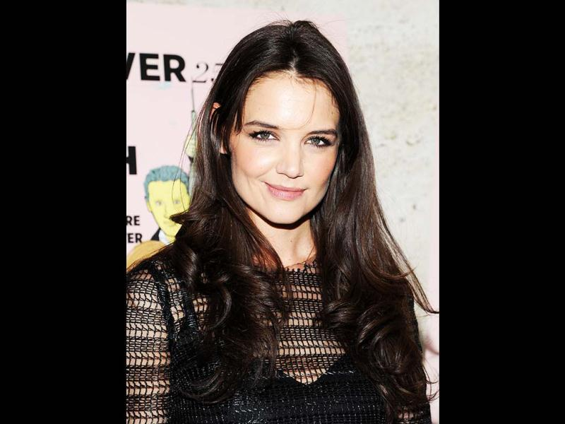 Actress Katie Holmes attends The New York Observer's 25th anniversary party at The Four Seasons Restaurant in New York. (AP Photo)