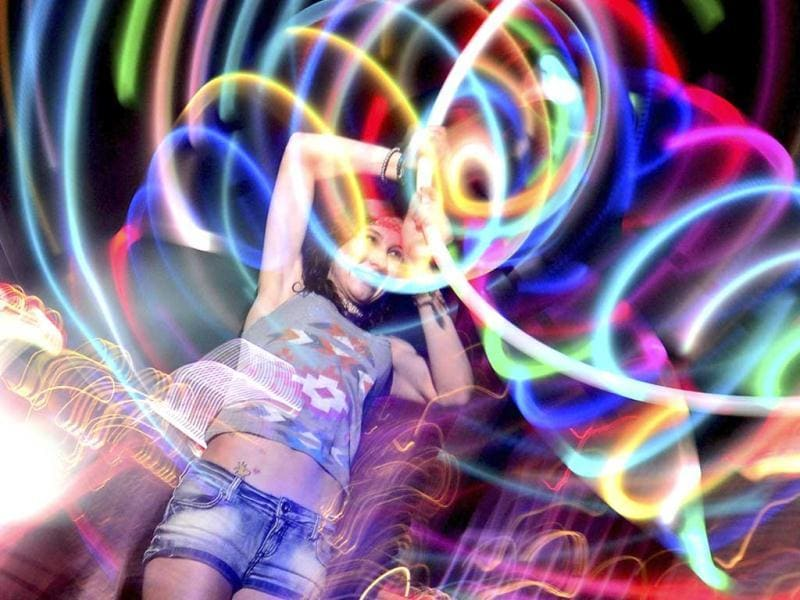 Stringer Hrycyk dances as she moves to the beat of electronic music during the Ultra Music Festival at Bayfront Park in Miami. (Reuters)