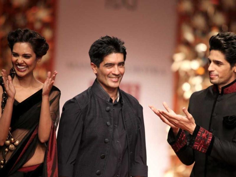 Manish Malhotra, in his usual vein, promoted Indian craft but this time in the form of Phulkari.