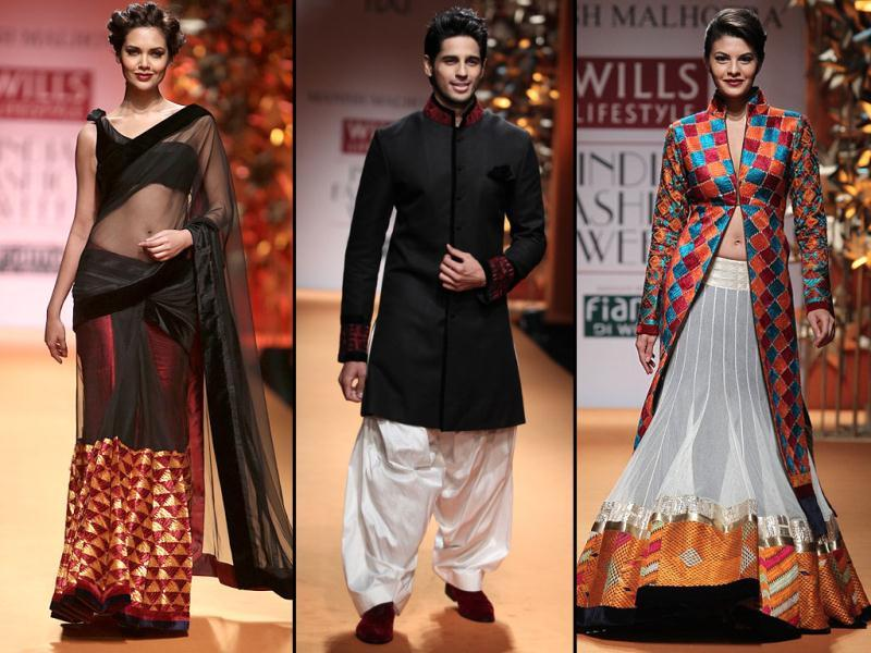 Esha Gupta, Siddharth Malhotra and Jacqueline Fernandez graced the ramp by carrying the attire in uber style.