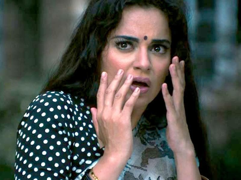 Kangana Ranaut seems horrified in a still from Shootout At Wadala.
