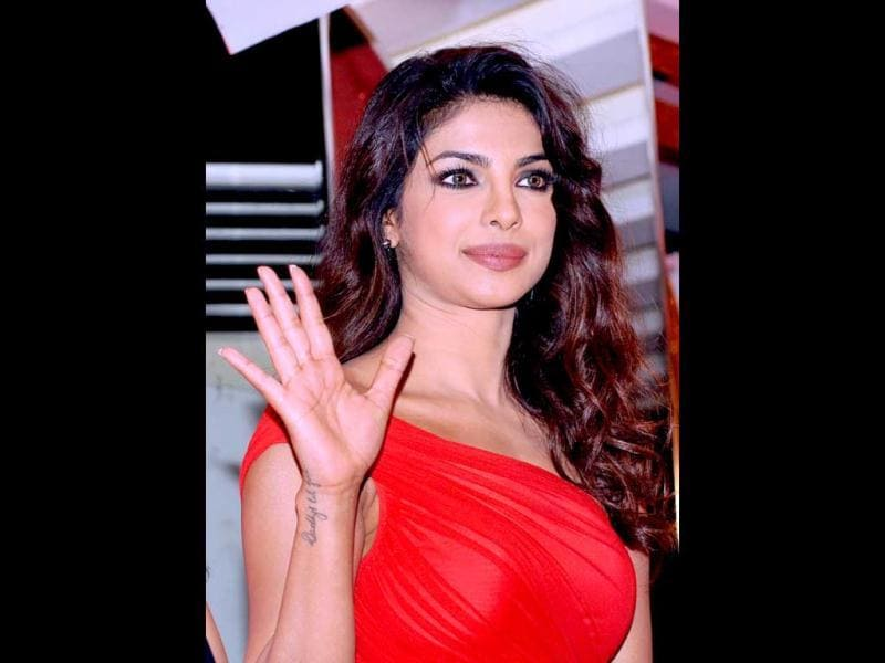 Priyanka Chopra poses during the promotion of the song Babli Badmaash from the upcoming Hindi crime film Shootout At Wadala directed by Sanjay Gupta in Mumbai on March 18, 2013. (AFP Photo)