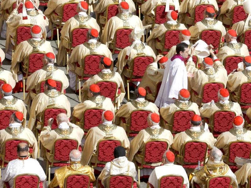 Cardinals attend the inaugural mass of Pope Francis in Saint Peter's Square at the Vatican. REUTERS/Stefano Rellandini