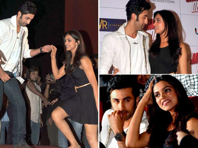 There has already been much talk about former couple Deepika Padukone and Ranbir Kapoor's chemistry in their upcoming film Yeh Jawaani Hai Deewani but check out their off-screen chemistry here as they promote the film!