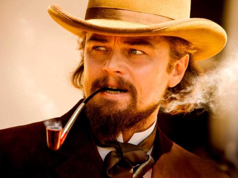 Leonardo DiCaprio plays the ruthless plantation owner Calvin Candie who captures Django's wife in the film.
