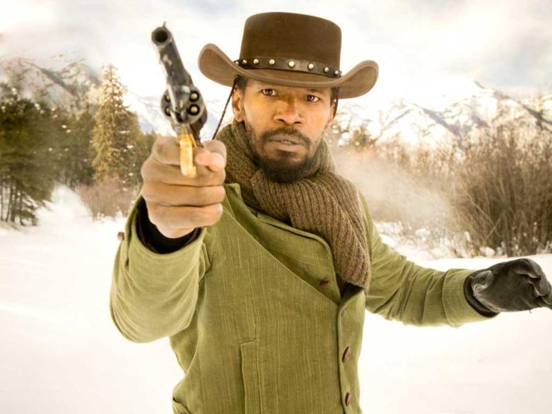 Jamie Foxx plays Django, a plantation slave in the action-packed film Django Unchained.