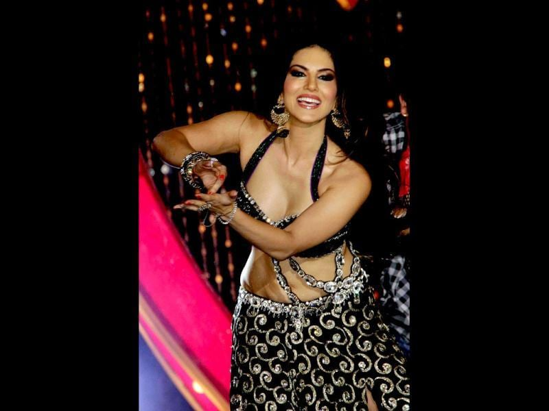 Sunny Leone performs during the music launch for Shootout At Wadala in Mumbai (AFP Photo)