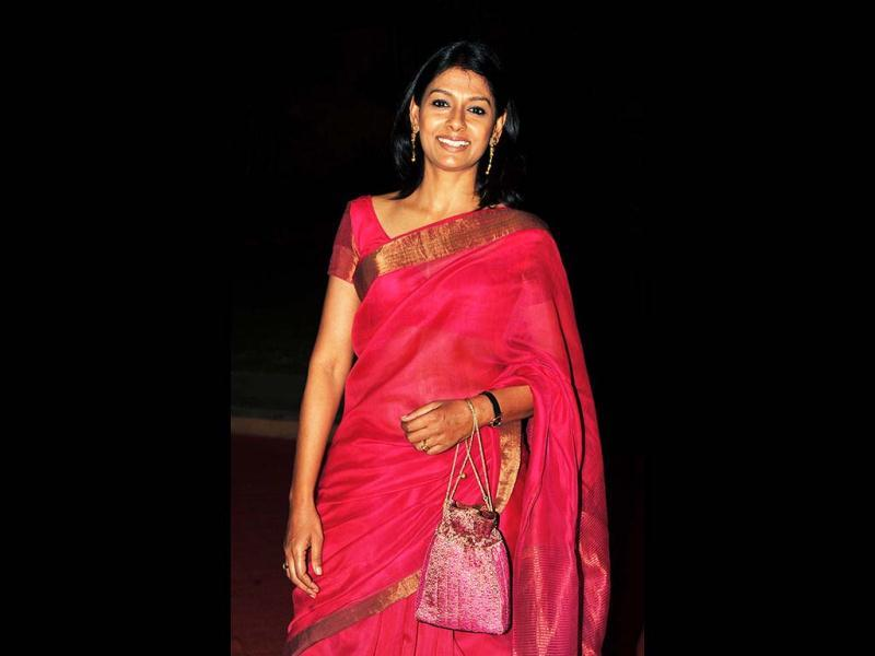 Actress Nandita Das looks lovely in a pink sari as she attends the L'oreal Paris Femina women Awards. (AFP Photo)