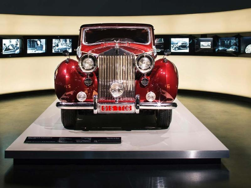 The exhibition inlcudes 12 classic Rolls-Royce cars including this Phantom. Photo:AFP