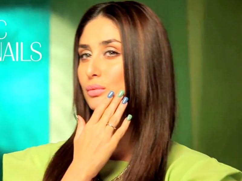 Kareena Kapoor shows off her painted nails for a beauty brand advertisement. (Photo Courtesy: Lakme India/Youtube)