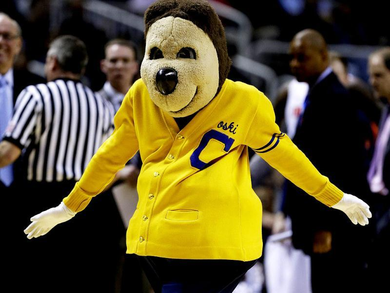 The California Golden Bears mascot performs in the secon dhalf against the Syracuse Orange during the third round of the 2013 NCAA Men's Basketball Tournament at HP Pavilion in San Jose, California. AFP photo