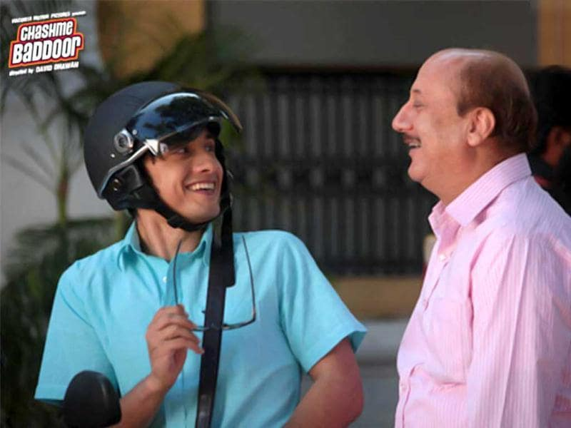 Chashme Baddoor also stars Anupam Kher. Ali Zafar with the veteran actor in the film.