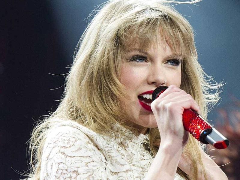 Taylor Swift performs in concert at the Prudential Center on Friday in Newark. (AP Photo)