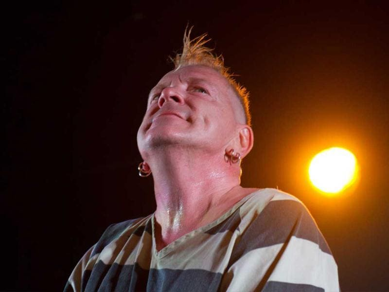 British singer John Lydon performs with his band Public image Limited (PiL) in Beijing. (AFP Photo)