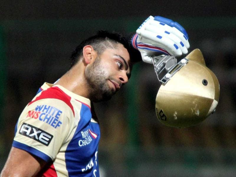 RCB skipper Virat Kohli during a practice session at Chinnaswamy Stadium in Bengaluru. PTI Photo