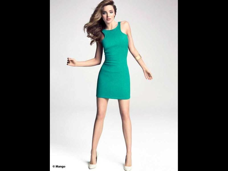 Miranda Kerr looks as bright as the colour here. (Photo credit: Mango)