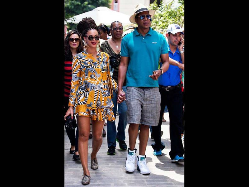 U.S. singer Beyonce with her husband and rapper Jay-Z was spotted in Old Havana celebrating their fifth wedding anniversary. Take a tour. (AP Photo)