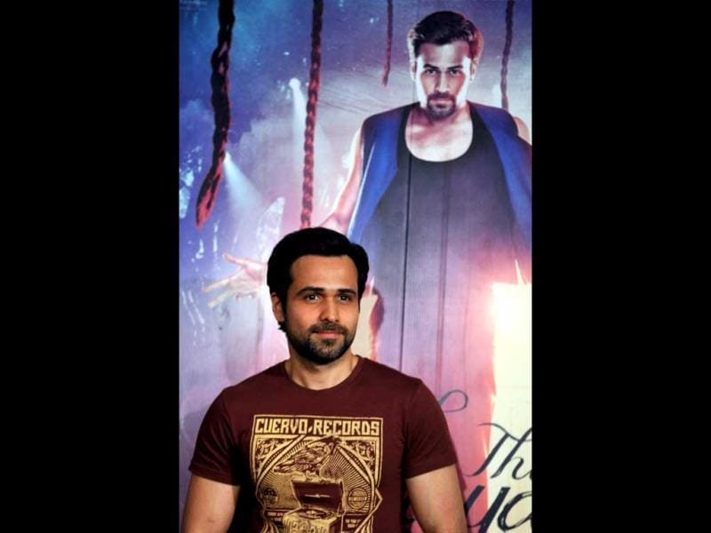 Emraan Hashmi poses for a photo during a press conference for the promotion of upcoming film Ek Thi Daayan. (AFP Photo)