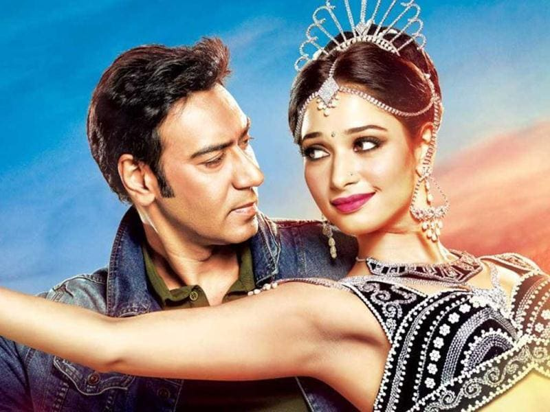 Film: Himmatwala  Actors: Ajay Devgn (44), Tamannah Bhatia (23)Age Difference: 21