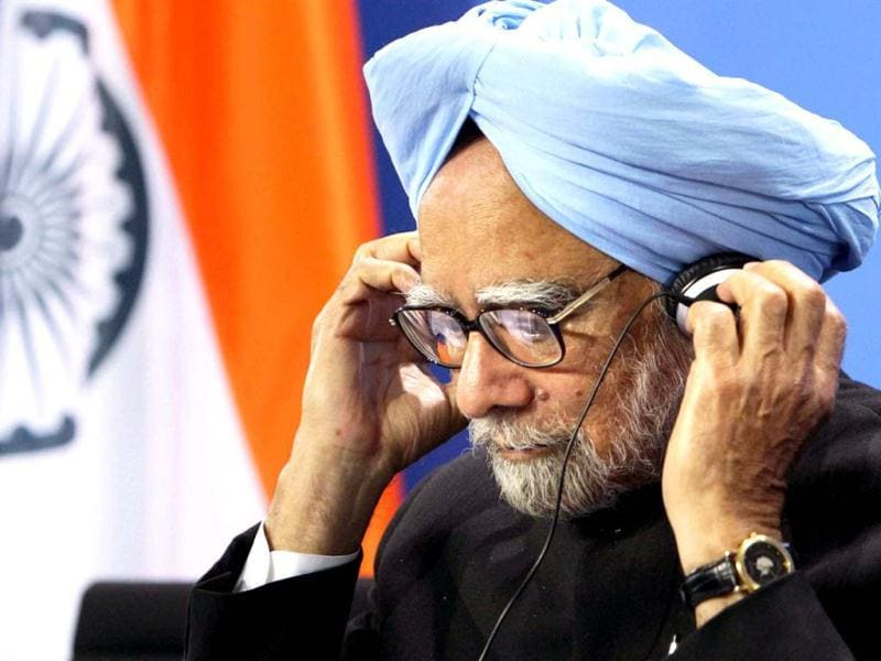 Prime Minister Manmohan Singh during a joint press confernce at the Federal Chancellery in Berlin. PTI photo