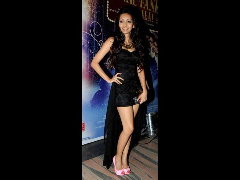 Pooja Salvi poses for special screening Nautanki Saala in Mumbai. (AFP Photo)