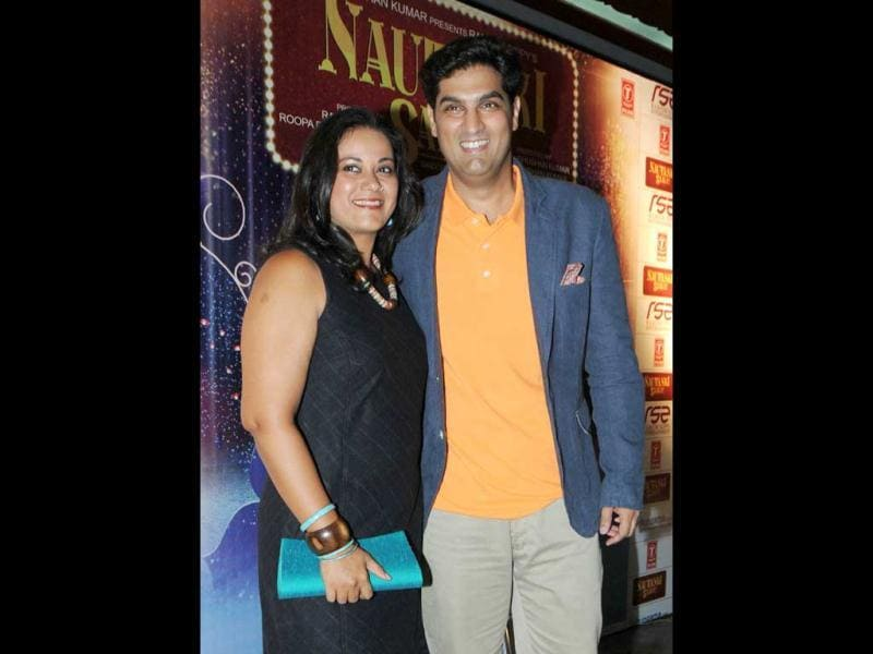 Kunaal Roy Kapur with his wife Shayonti poses at special screening of Nautanki Saala in Mumbai. (AFP Photo)