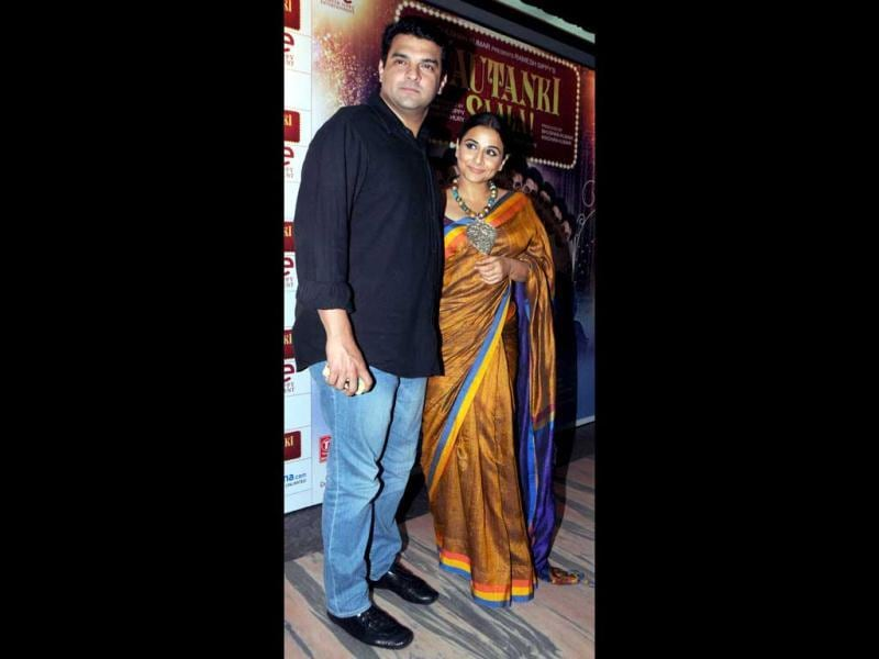Vidya Balan with her husband Siddharth Roy attended the special screening of Nauntanki Saala. Take a glimpse of the event. (AFP Photo)