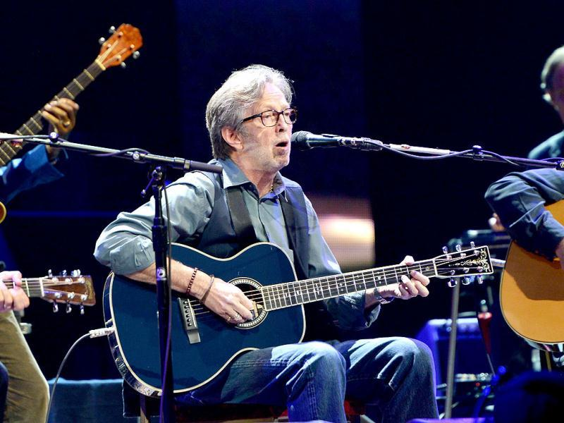 Eric Clapton performs on stage during the 2013 Crossroads Guitar Festival at Madison Square Garden in New York City. (AFP Photo)