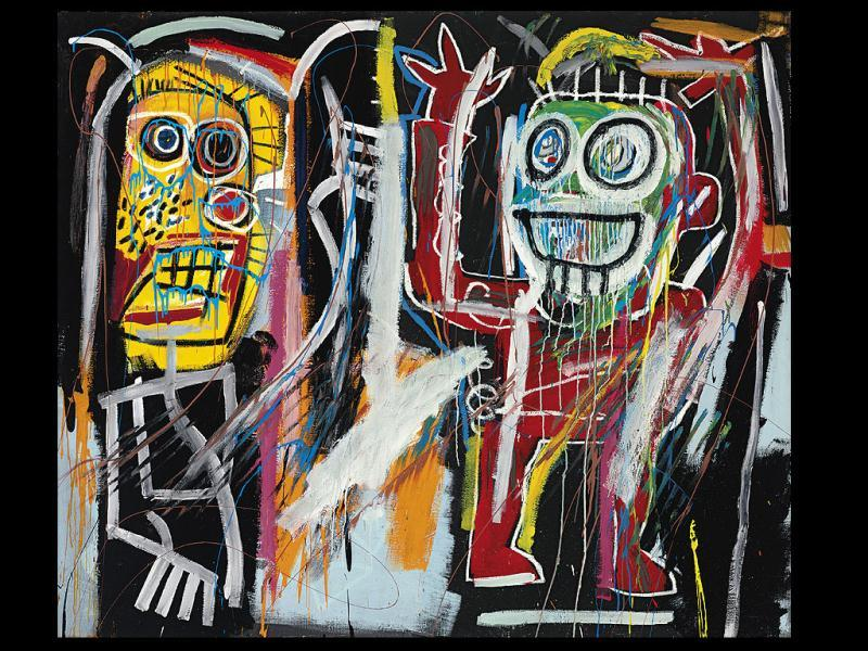 This image shows a Jean-Michel Basquiat painting titled