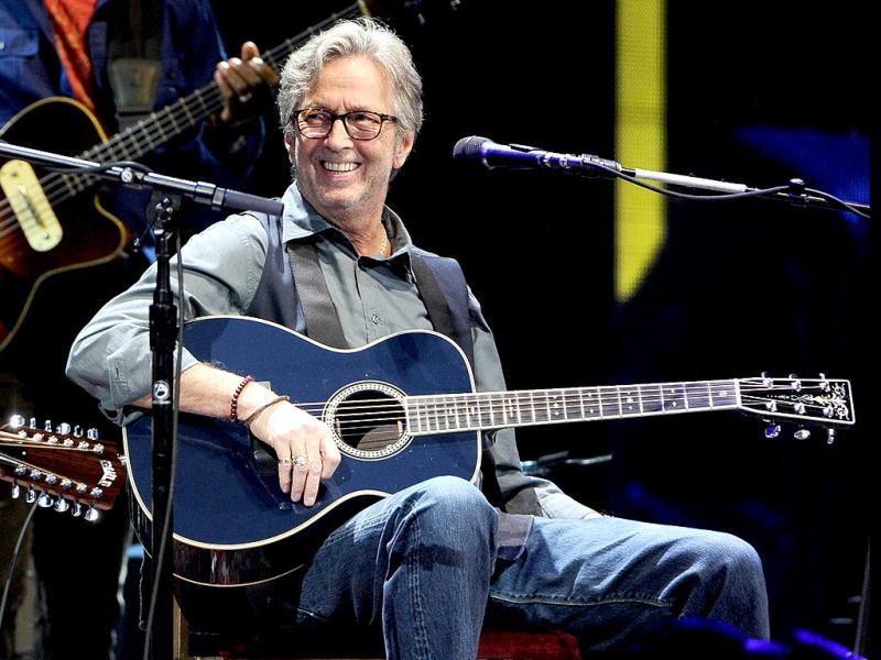 Musician Eric Clapton performs at Eric Clapton's Crossroads Guitar Festival 2013 at Madison Square Garden in New York. AP Photo