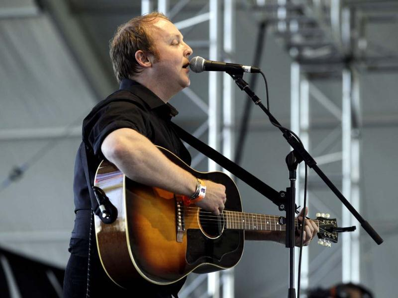James McCartney performs during the Coachella Music Festival in Indio. (Reuters)