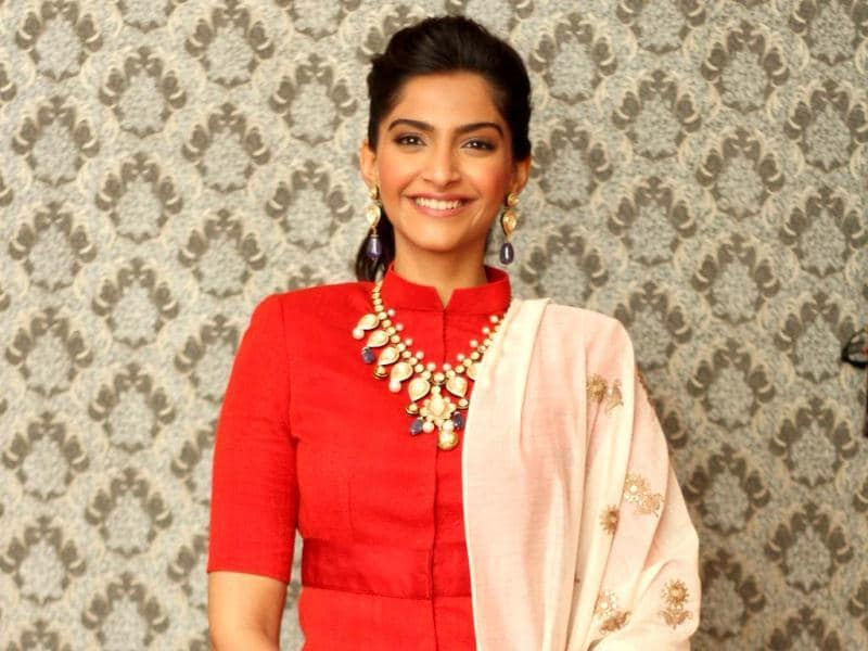 Sonam Kapoor was in Delhi on Friday to inaugurate the first edition of India International Jewellery Week. The Bollywood actor also walked the ramp for IIJW. We bring you some pictures of Sonam off the ramp. Take a look. (Photo: Waseem Gashroo)