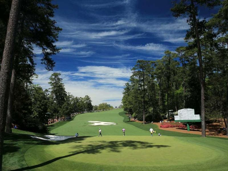 The tenth green is seen during the third round of the 2013 Masters Tournament at Augusta National Golf Club in Augusta, Georgia. AFP