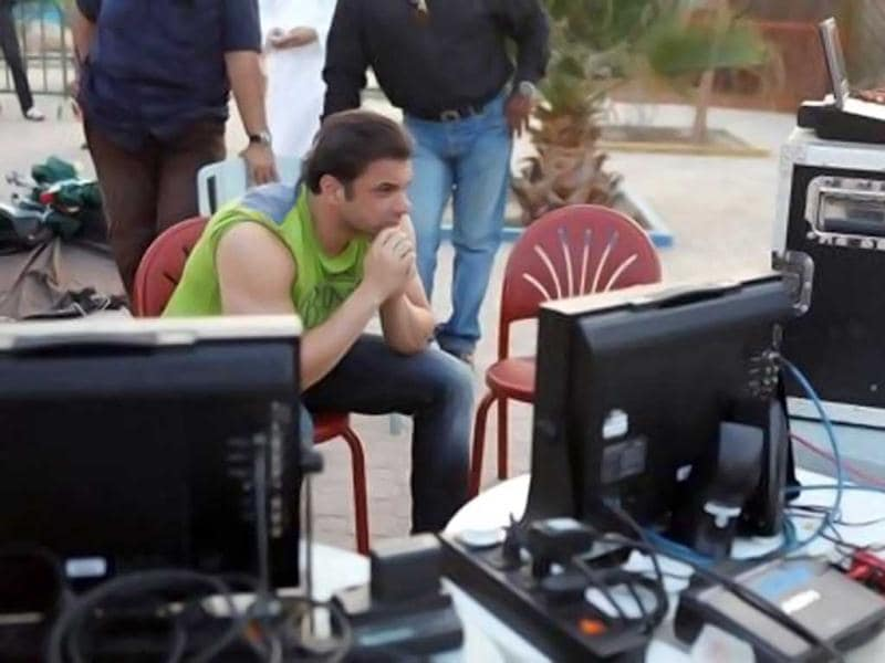 Sohail Khan on the sets of his Salman Khan-starrer movie Mental. (Courtesy: Facebook/MentalFilm)