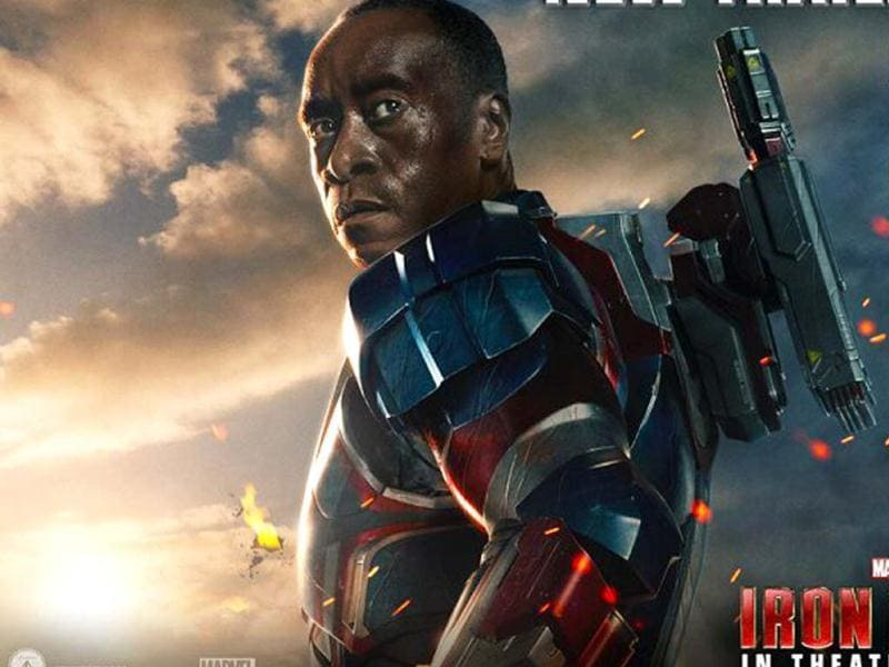 Don Cheadle once again plays James Rhodes and the War Machine in Iron Man 3.
