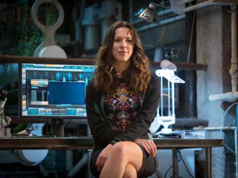 Rebecca Hall plays a character called Maya Hansen who is an incredibly smart scientist and has developed some very cutting-edge technology, which is one of the principal components that drive the story.