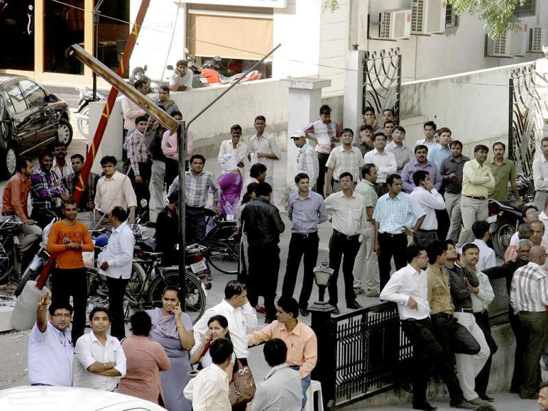 The tremors of the earthquake that hit The Iran-Pak border were felt in various cities of Gujarat including Ahmedabad and Kutch. People living in high-rise buildings came out of their apartments and offices in panic. UNI