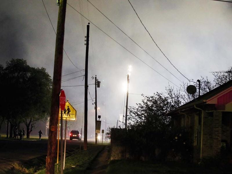 Smoke fills the air after a fertilizer plant explosion in West, Texas. AP photo